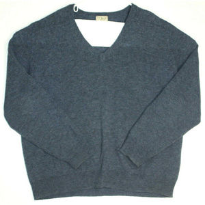 L.L. Bean Mens Wool Blue Pullover Sweater Size XL